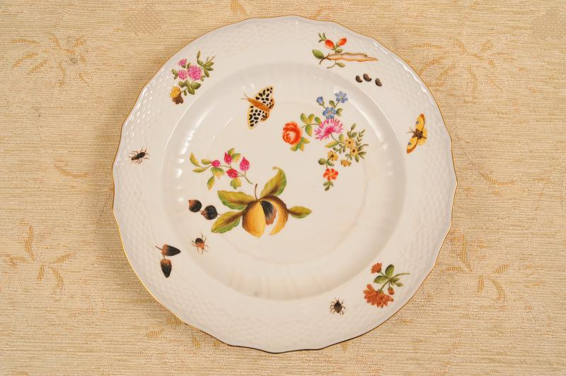 Photo of 6 Sevres French Porcelain Tropical Floral Plates Dishes