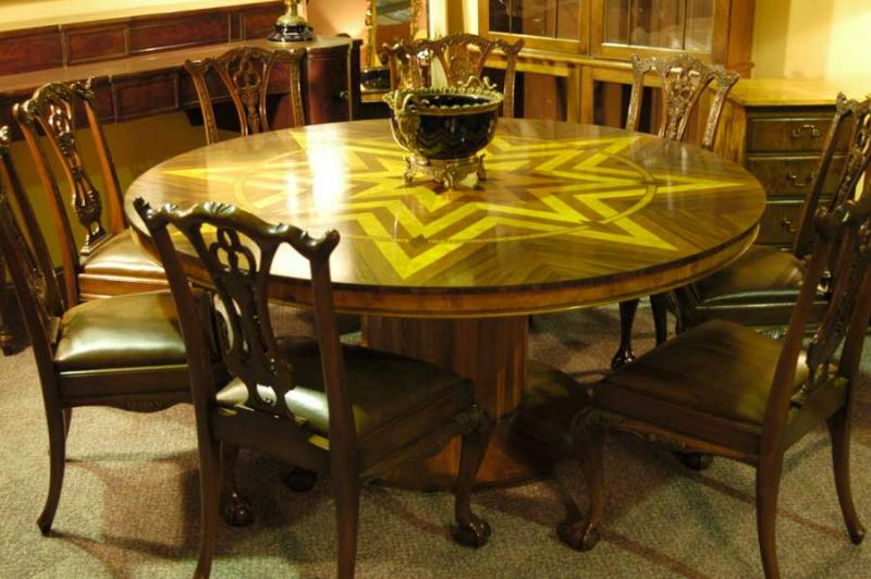 6ft art deco inlay round dining table tables for 6 foot round dining table