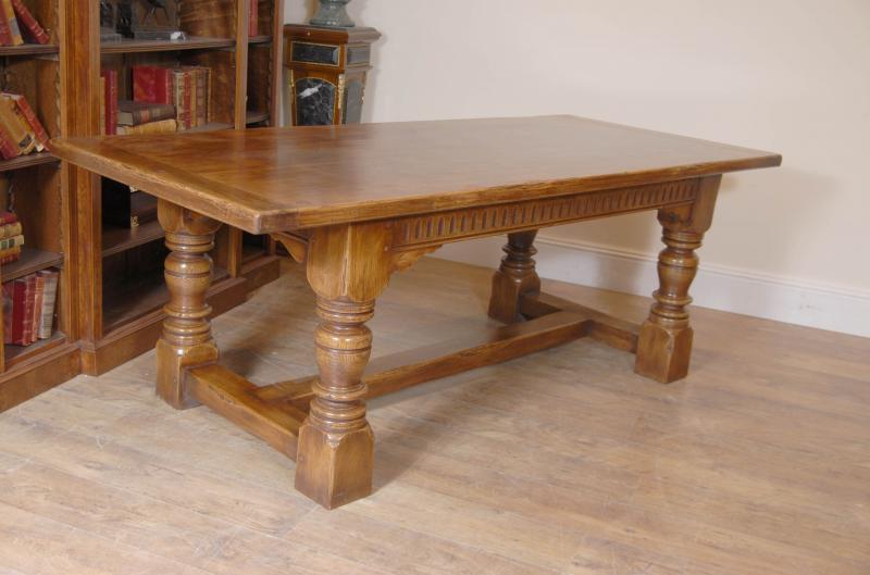 Photo of 7 ft English Farmhouse Refectory Kitchen Table Oak Tables