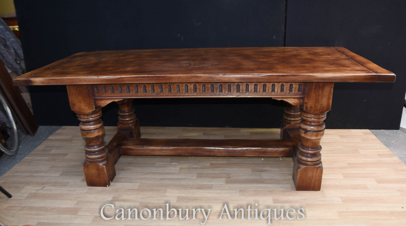 Details about Oak Refectory Table - Farmhouse Kitchen Dining 10ft - 10 CM