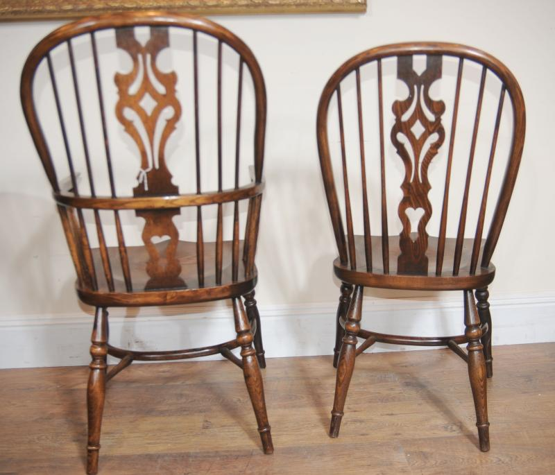 Windsor Kitchen Chairs: 8 Antique Windsor Kitchen Dining Chairs Set