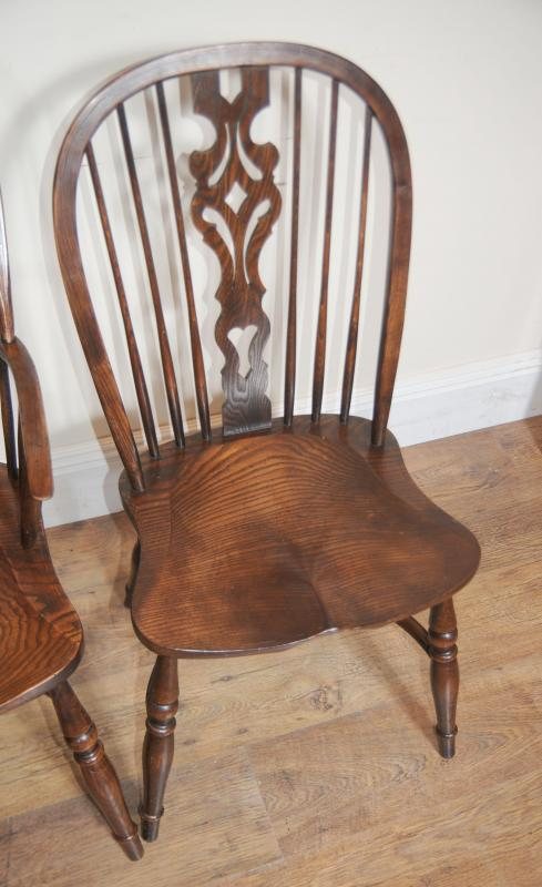 Photo of 8 antique windsor kitchen dining chairs set