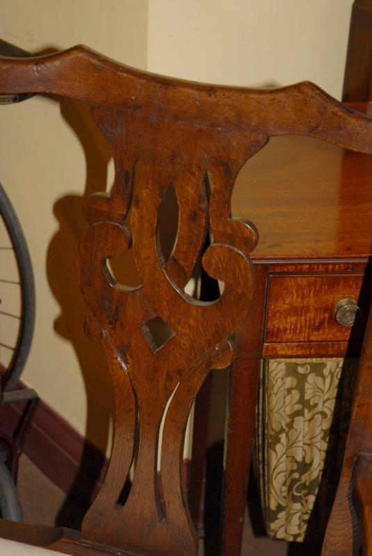 Photo of 8 English Rustic Oak Ladderback Chairs