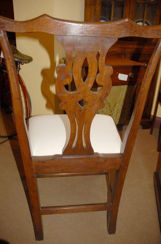 Photo of 8 English Rustic Oak Ladderback Chairs