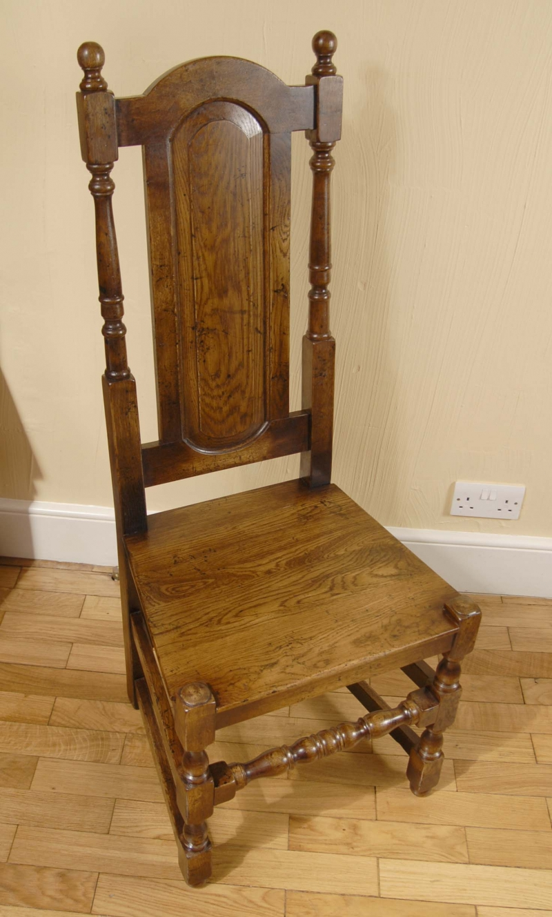 Photo of 8 English Rustic William Mary Dining Chairs Gothic Farm