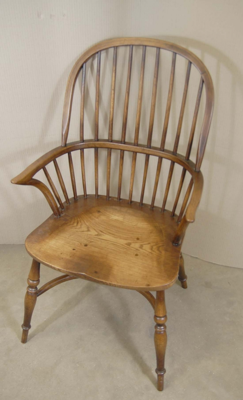 Photo of 8 Farmhouse English Windsor Dining Chairs Oak