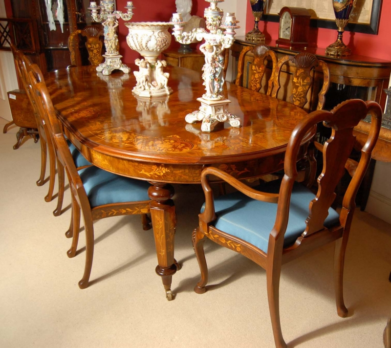 8 foot Italian Marquetry Dining Table 8 Queen Anne Chairs  : 8 foot italian marquetry dining table 8 queen anne chairs 1213381450 zoom 2 from www.ebay.co.uk size 800 x 712 jpeg 421kB