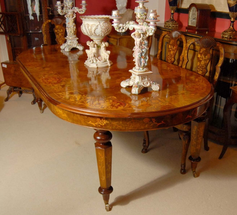 8 foot Italian Marquetry Dining Table 8 Queen Anne Chairs  : 8 foot italian marquetry dining table 8 queen anne chairs 1213381450 zoom 4 from www.ebay.co.uk size 800 x 726 jpeg 383kB