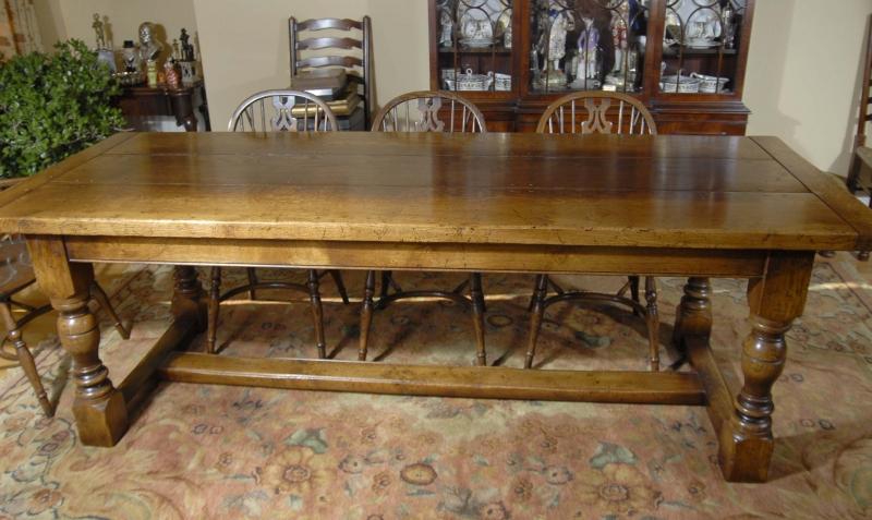 Oak Farmhouse Refectory Table 8 Ft 244 Cm English Kitchen Dining Ebay