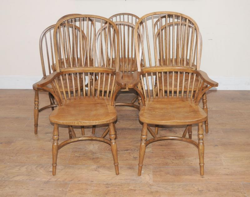 details about 8 oak windsor kitchen dining chairs farmhouse chair