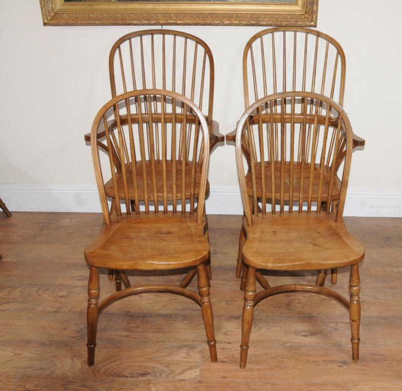 8 oak windsor kitchen dining chairs farmhouse chair ebay. Black Bedroom Furniture Sets. Home Design Ideas