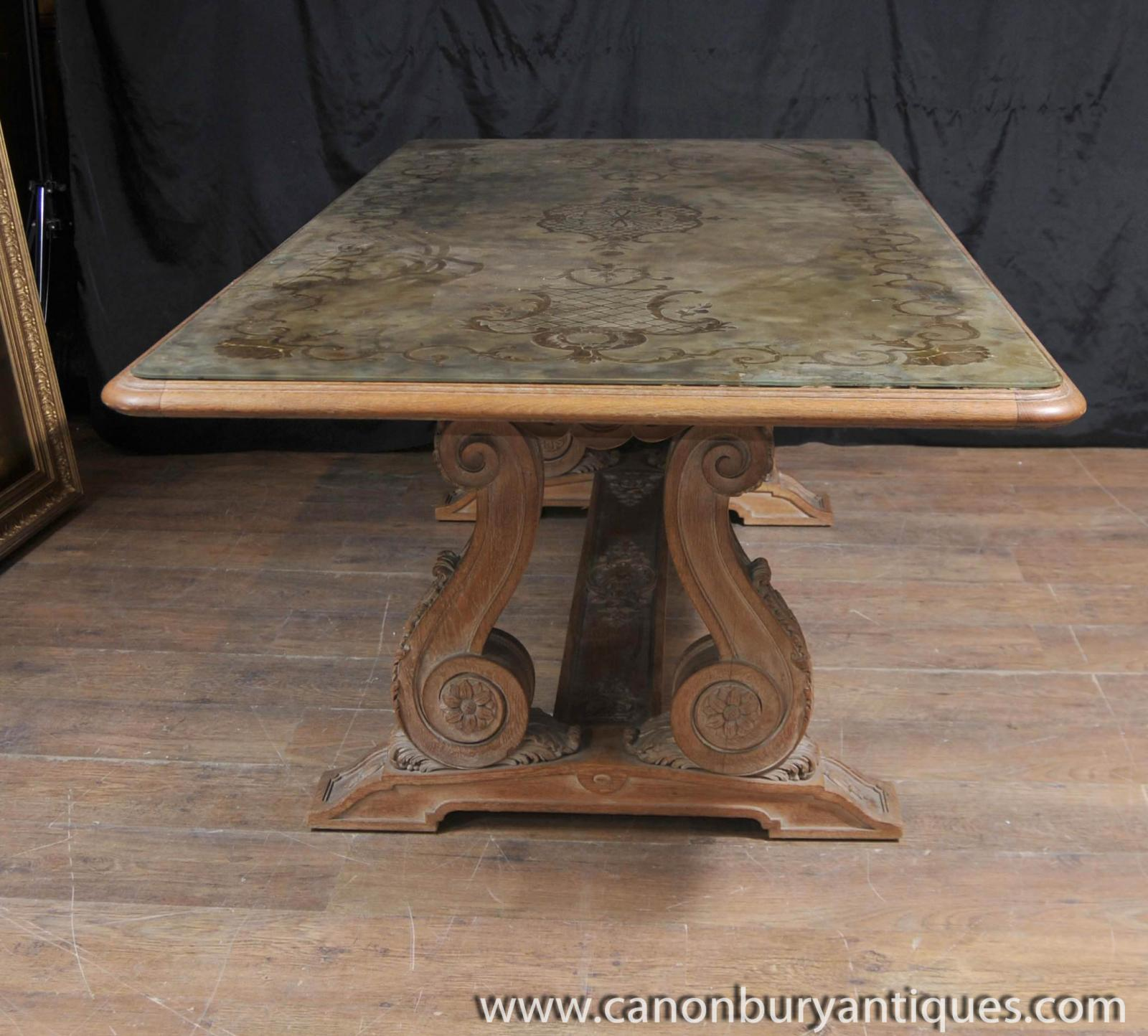 Antique French Art Nouveau Eglomise Dining Table Glass  : Antique20French20Art20Nouveau20Eglomise20Dining20Table20Glass20Topped20Inlay 1384149711 zoom 92 from www.ebay.co.uk size 1600 x 1444 jpeg 217kB