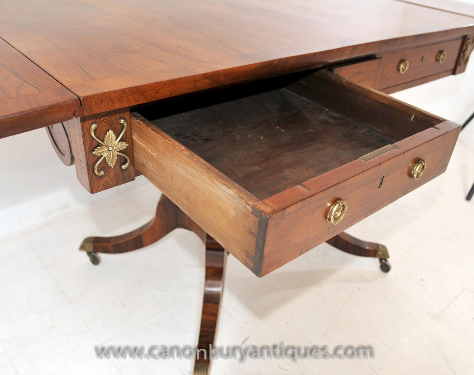 Antique Regency Sofa Table In Walnut Console Tables Ebay