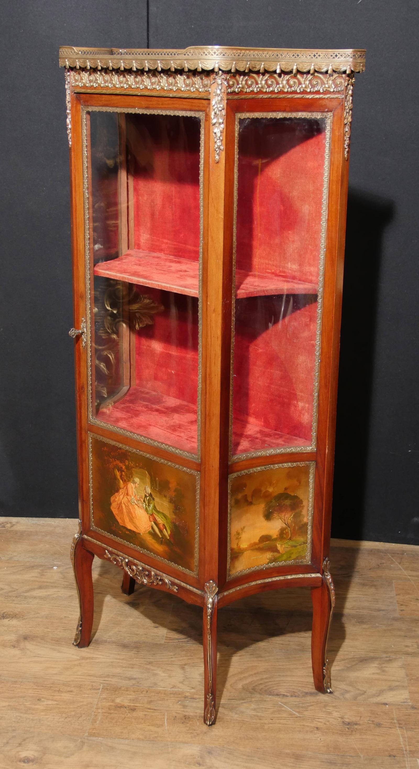 Exceptionnel Piece Description.   Gorgeous Antique French Empire Display Cabinet ...