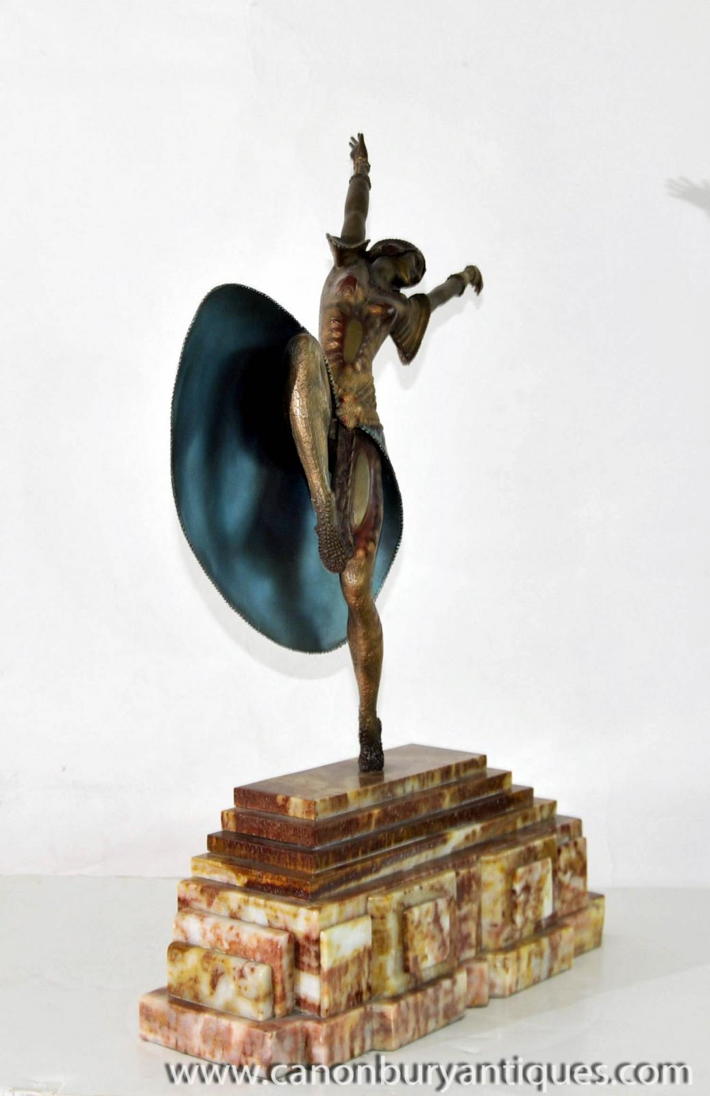 art deco bronze almeria statue by chiparus 1920s french figurine ebay. Black Bedroom Furniture Sets. Home Design Ideas