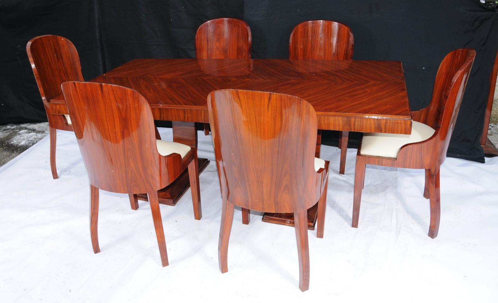 art deco dining details about art deco dining set rosewood table and chair suite art deco dining suite