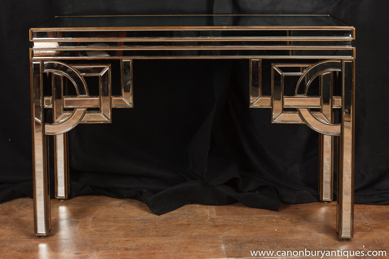 Art deco mirrored console table hall tables 1920s furniture for Miroir et console