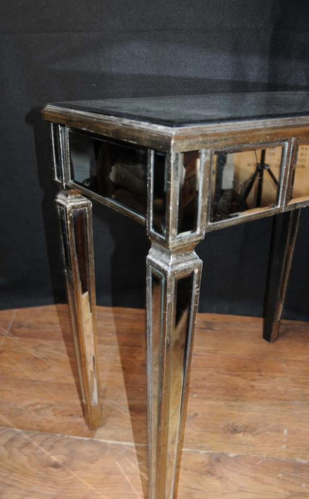 Art Deco Foyer Table : Art deco mirrored console table hall tables