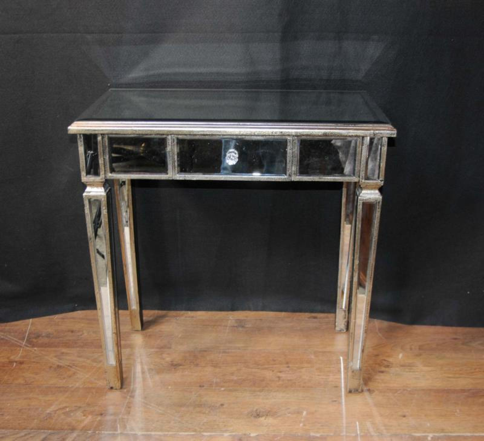 Art deco mirrored console table hall tables ebay for Miroir et console