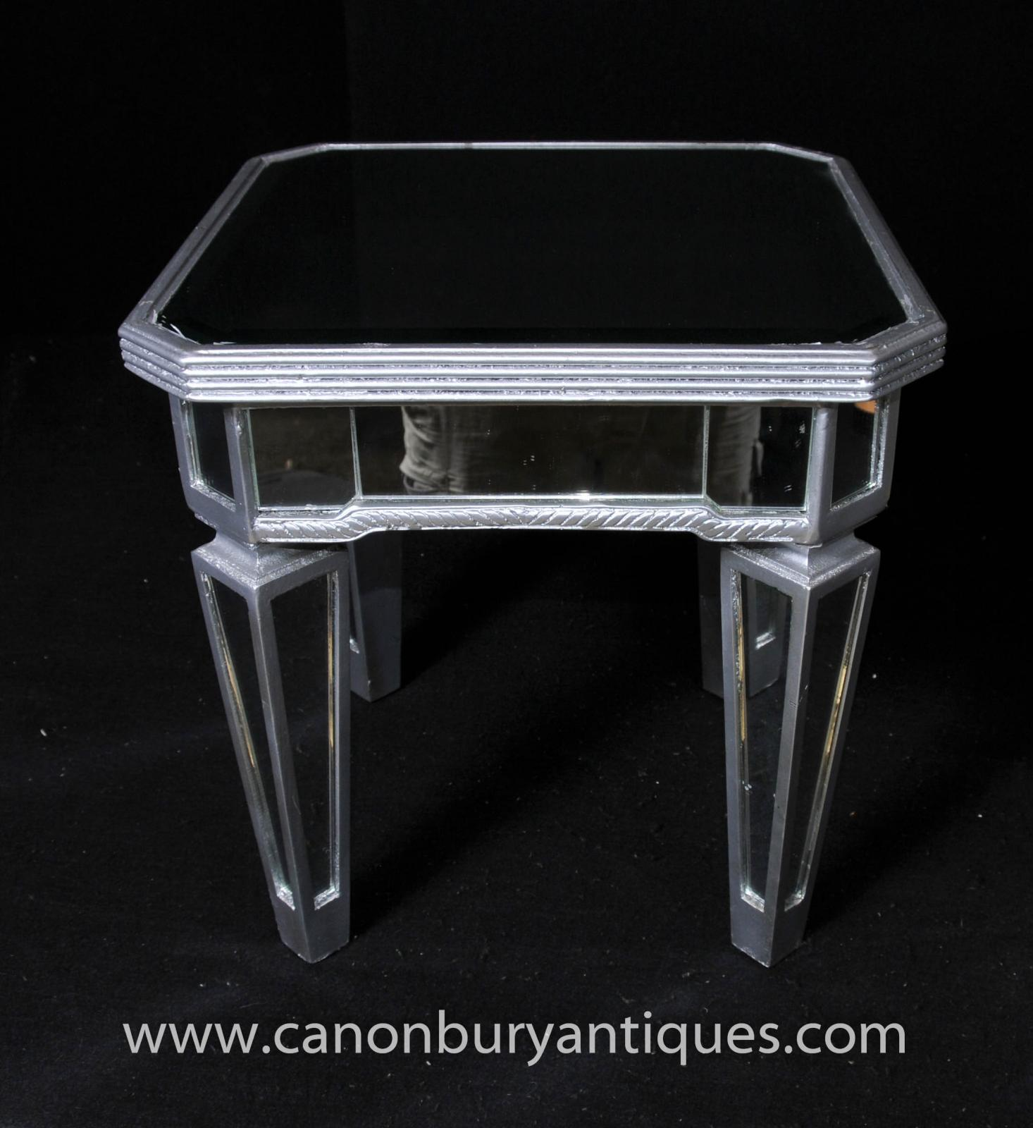 Art Deco Mirrored Side Table Cocktail Tables Borghese Ebay