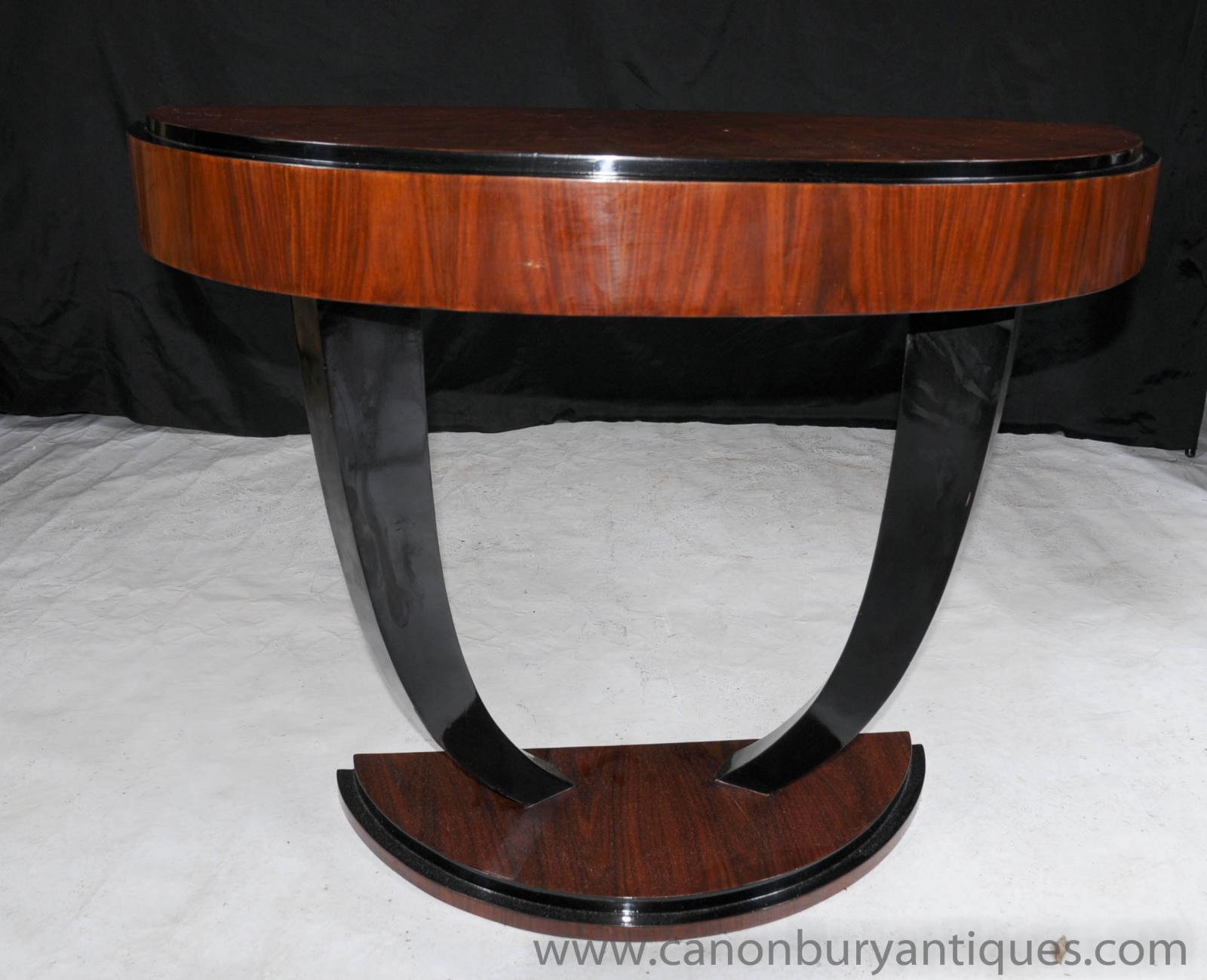 Art Deco Foyer Table : Art deco oggee console table rosewood hall tables