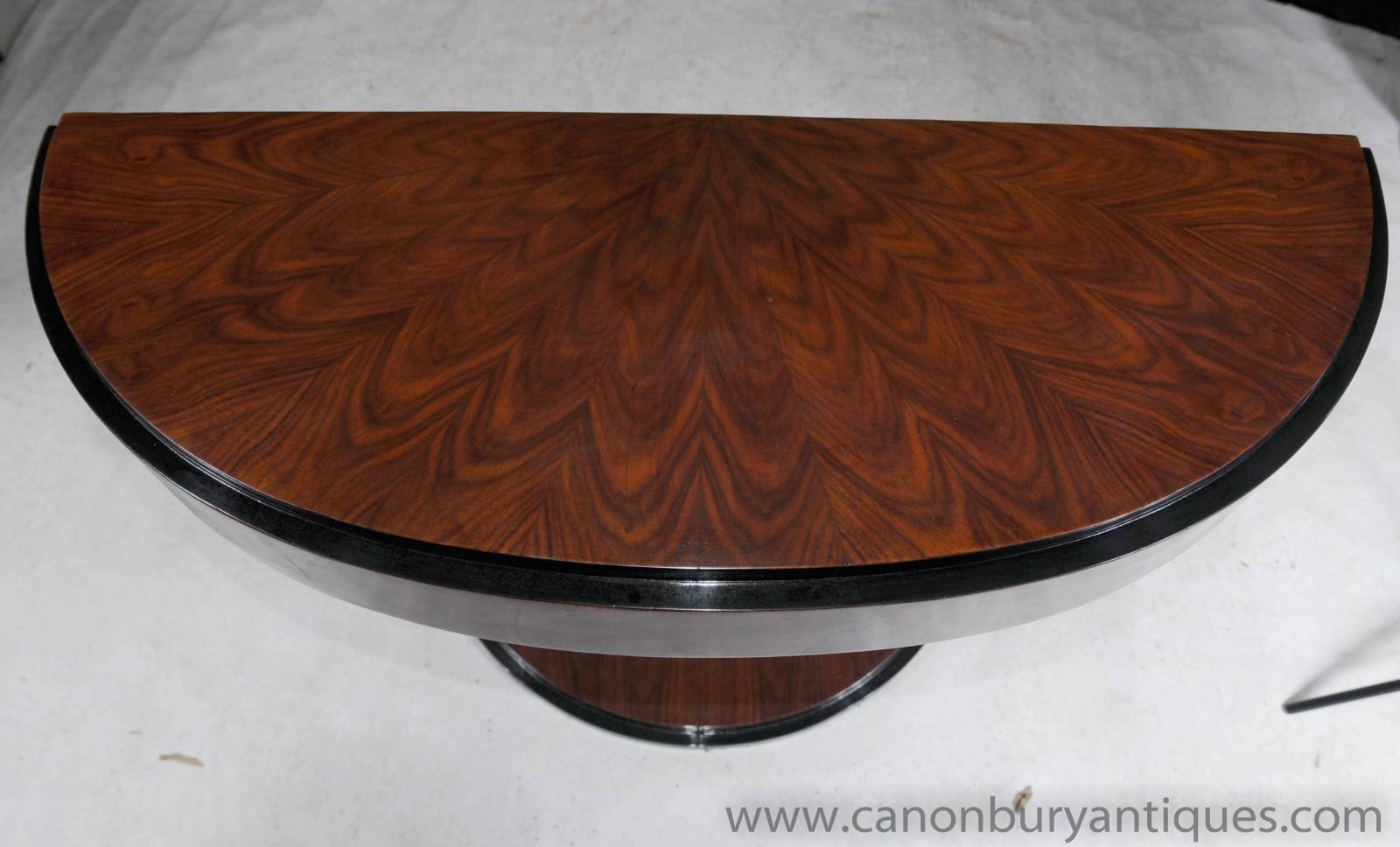 Art Deco Oggee Console Table Rosewood Hall Tables