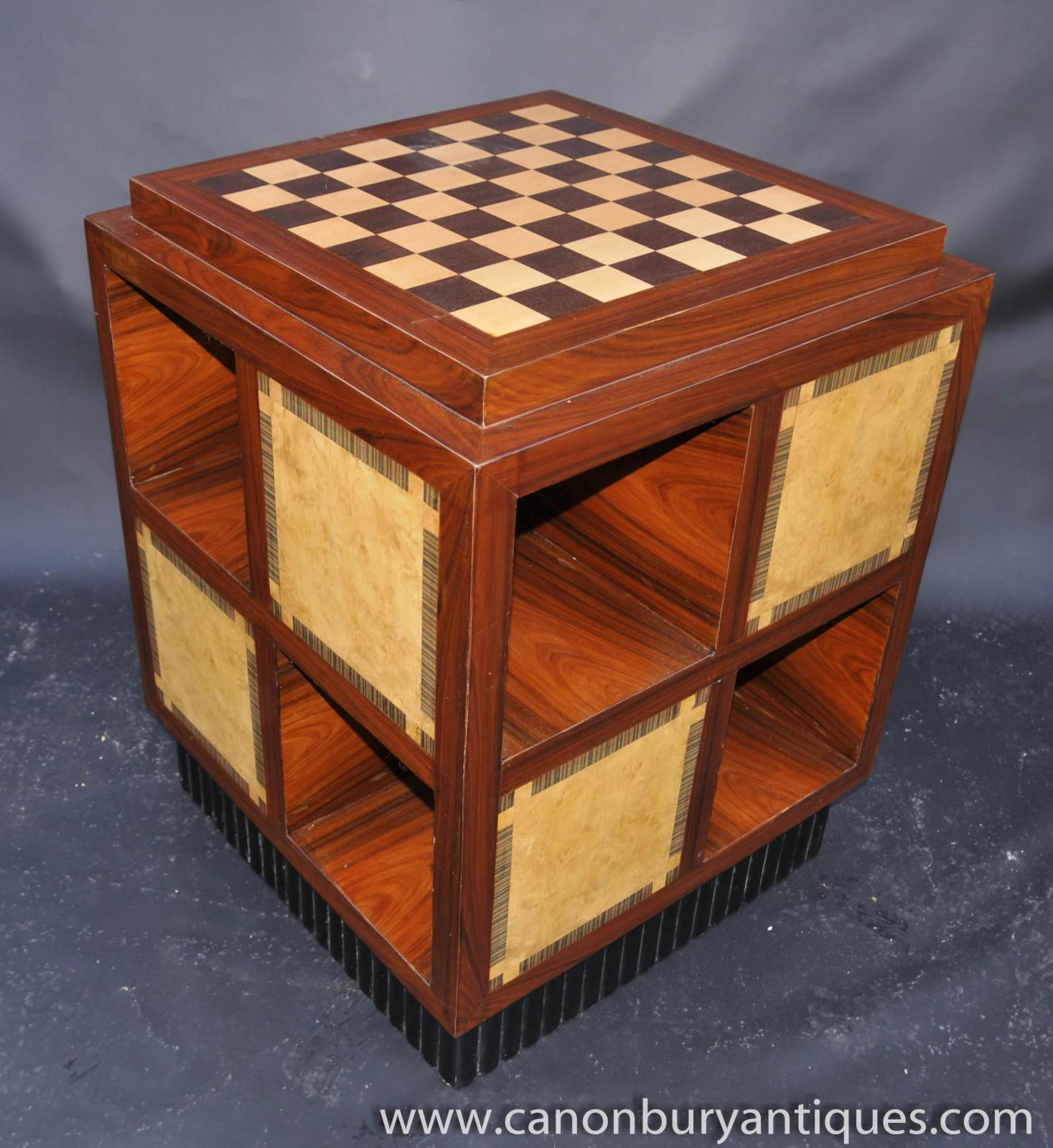 Art Deco Side Table Chess Games Tables Furniture Ebay