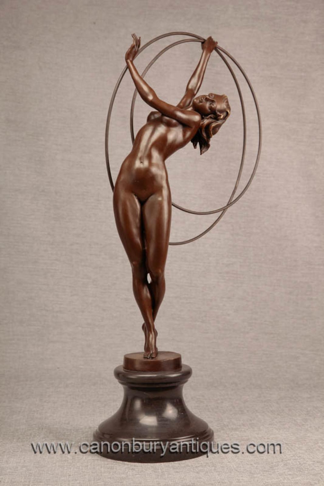 art deco bronze hoop dancer statue figurine 1920s flapper. Black Bedroom Furniture Sets. Home Design Ideas