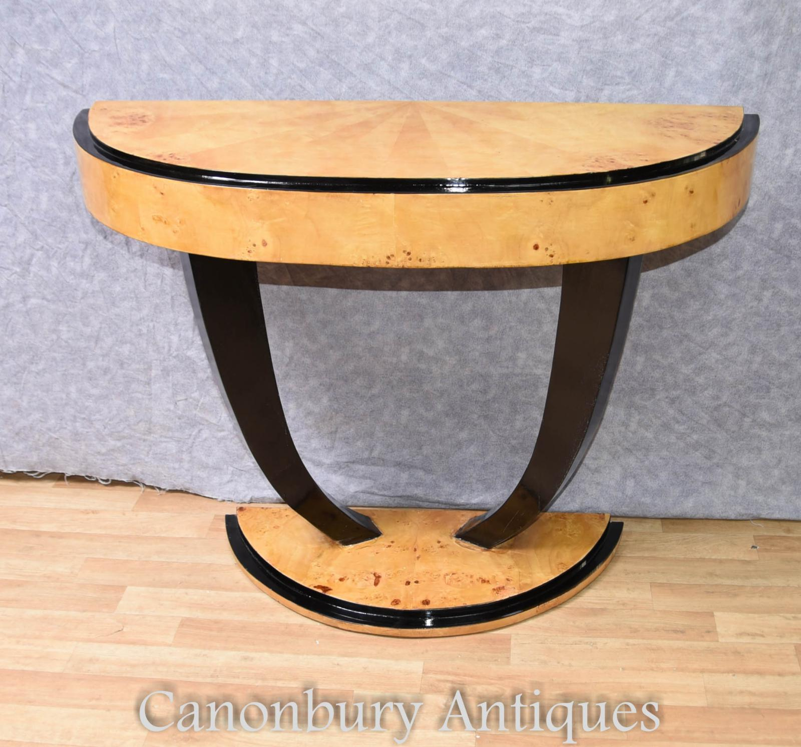 Charmant Details About Art Deco Console Table Half Round Hall Tables 1920s