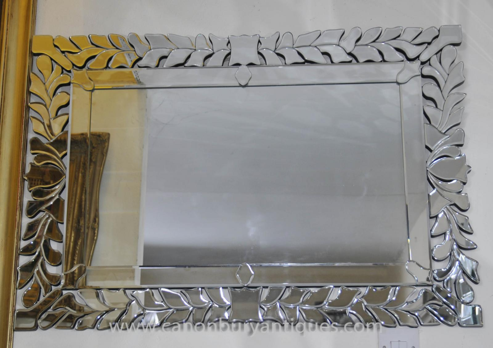 Art deco floral mantle mirror glass mirrors ebay for Mantle mirror