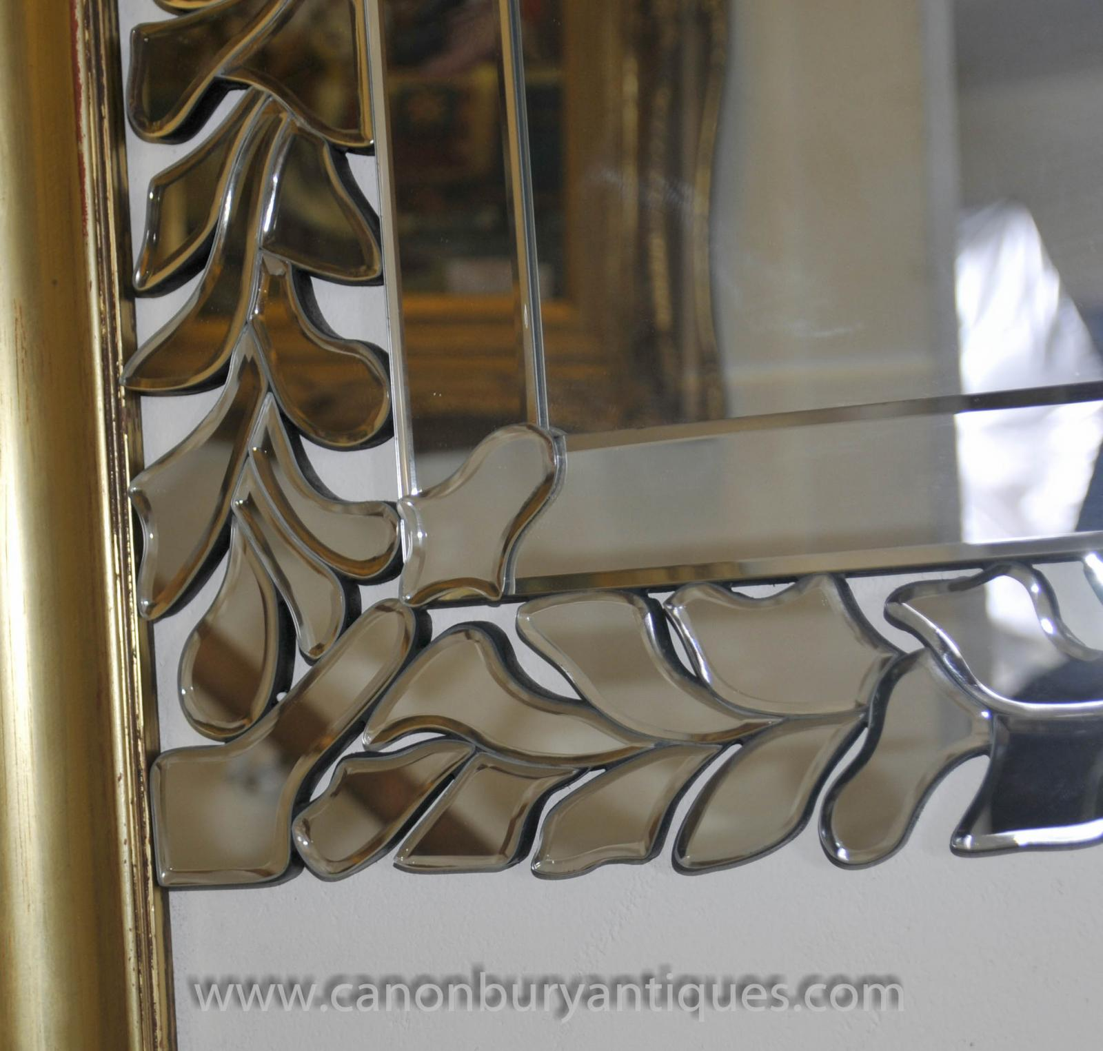 Art deco floral mantle mirror glass mirrors ebay for Glass and mirror company
