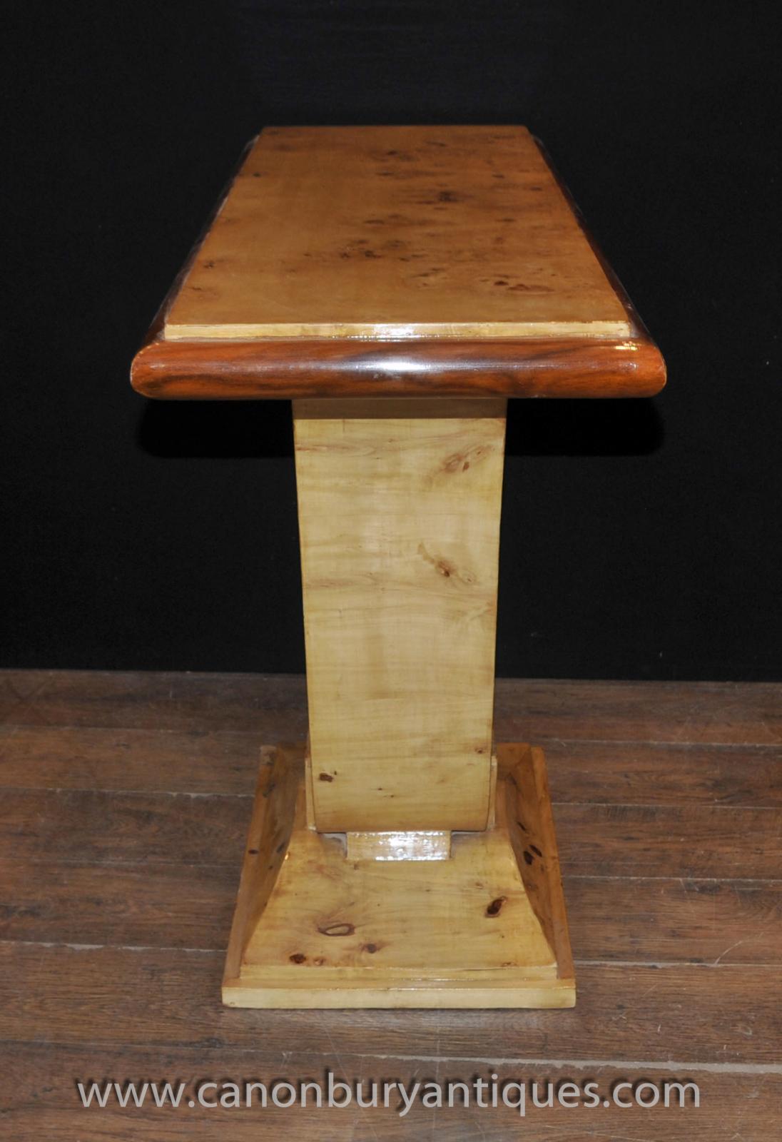 Art Deco Foyer Table : Art deco oggee hall table birdseye maple s console