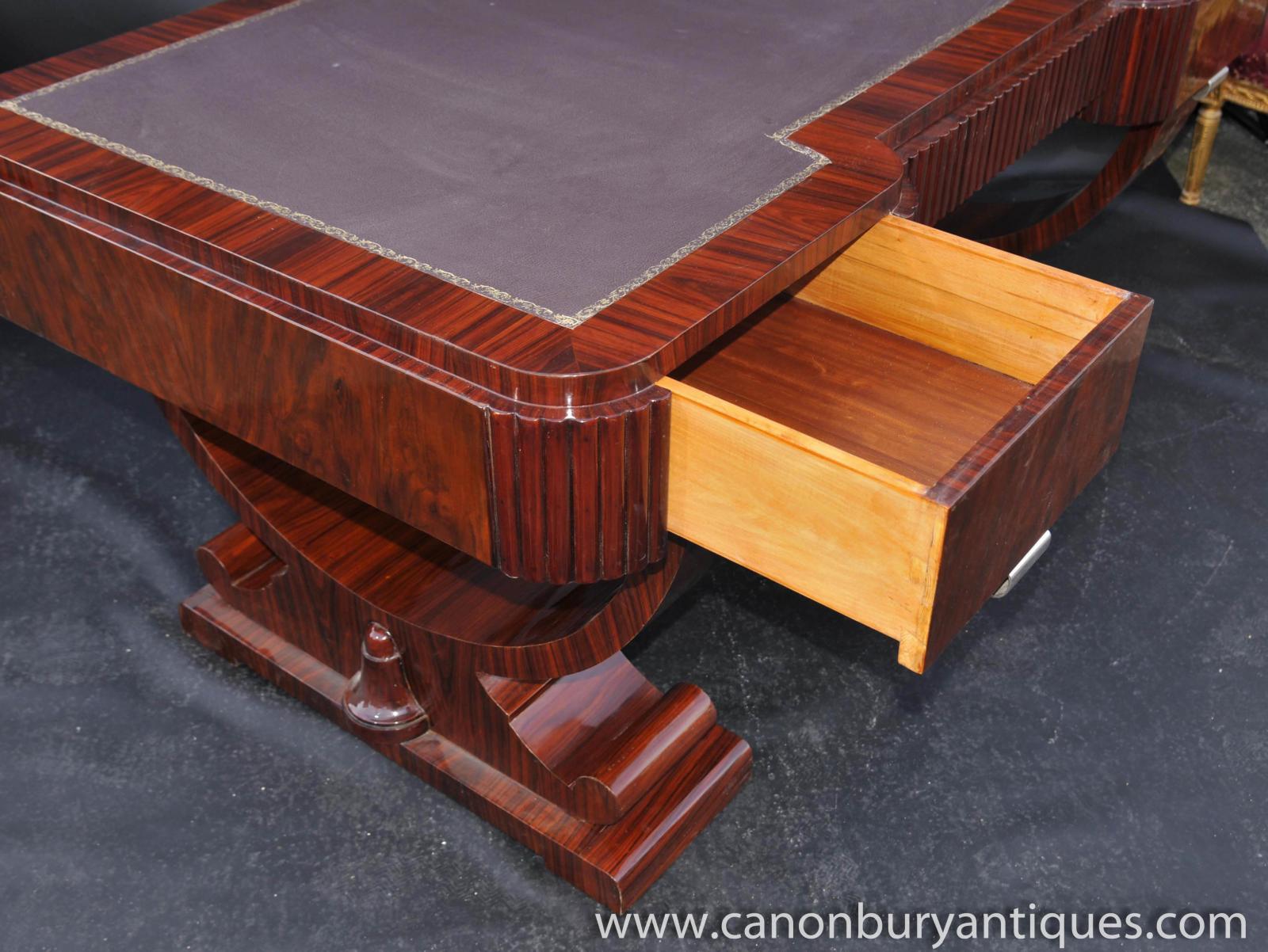 Big Art Deco Partners Desk Writing Table Bureau 1920s