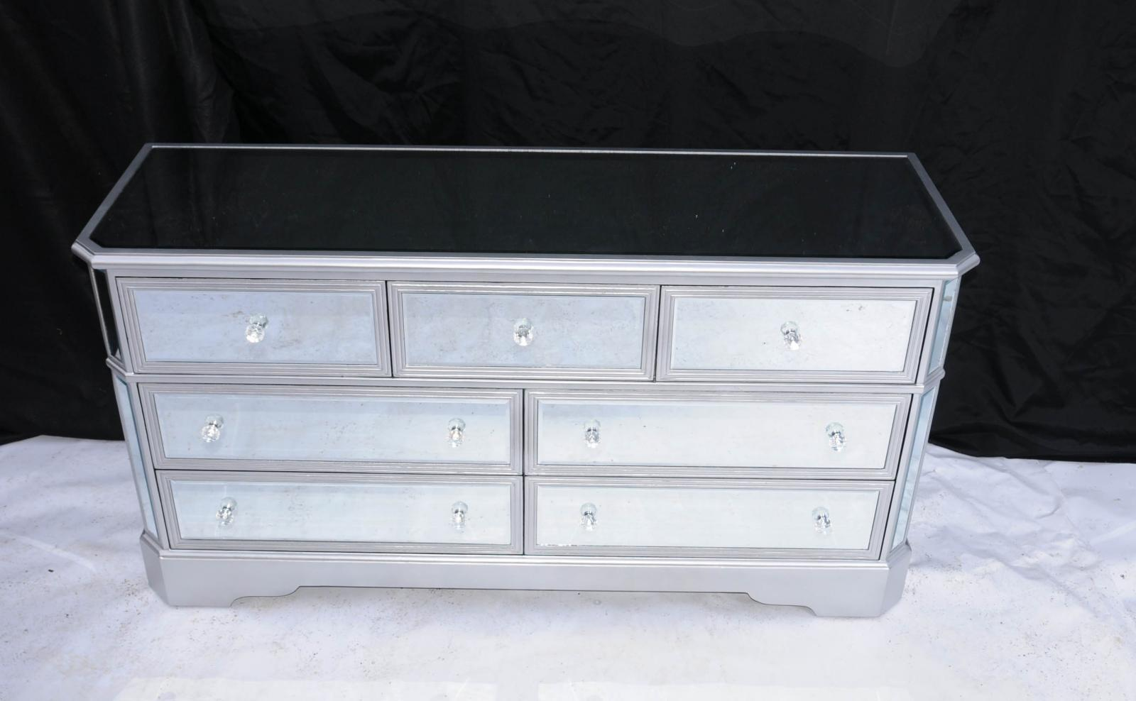 big mirrored deco chest drawers commode glass furniture. Black Bedroom Furniture Sets. Home Design Ideas