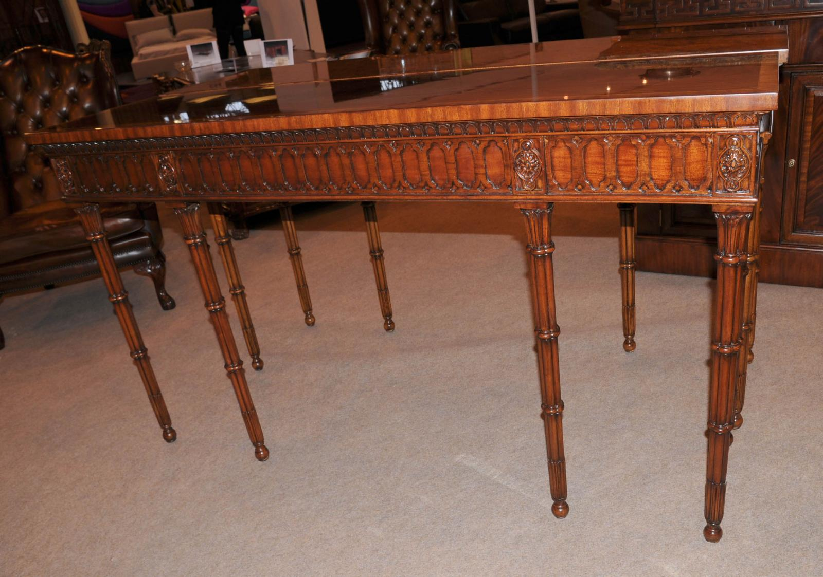 Chippendale console table hand carved mahogany hall tables ebay store categories geotapseo Gallery
