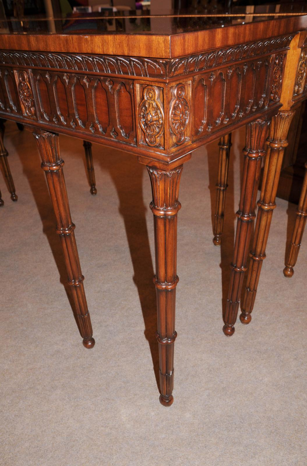 photo of chippendale console table hand carved mahogany hall tables