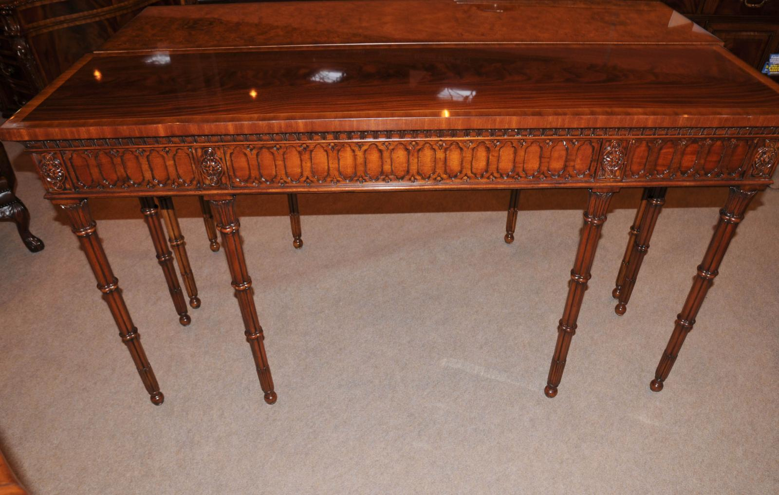 Chippendale console table hand carved mahogany hall tables for Table 85 address