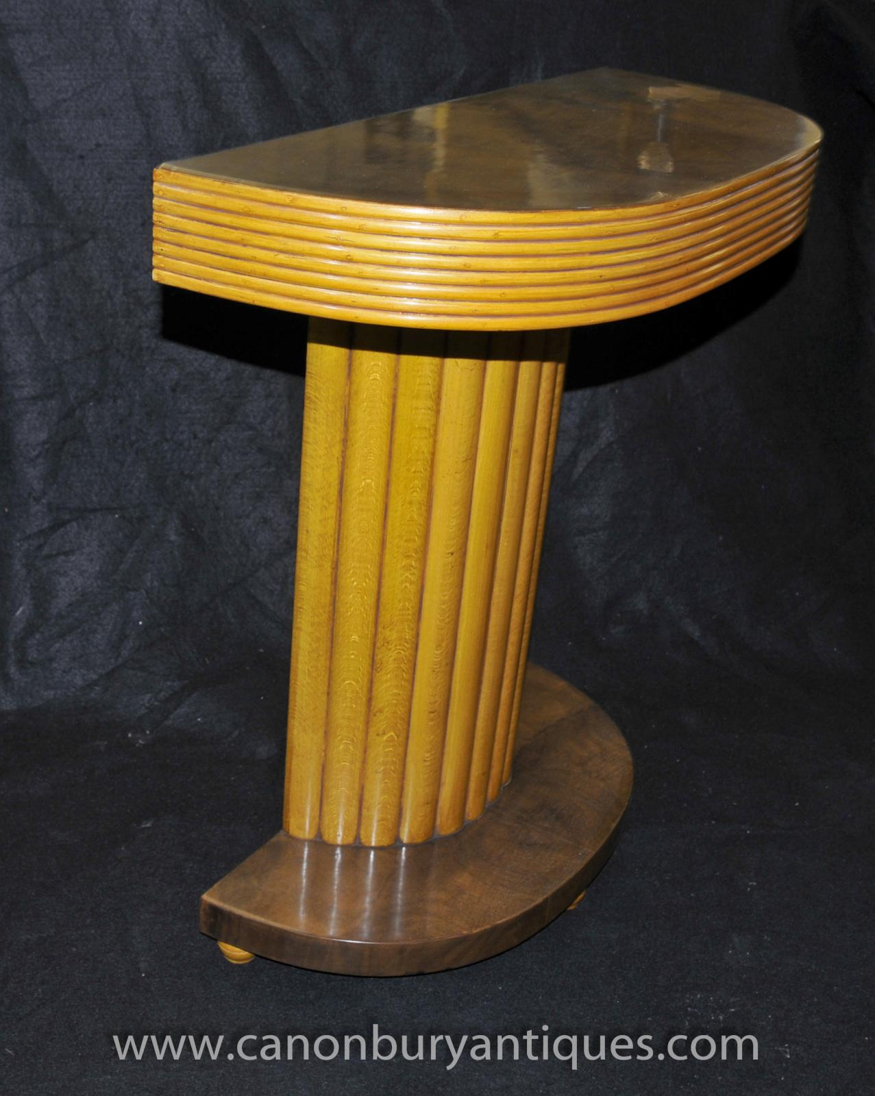 Classic art deco console table 1920s hall tables ebay for Table de nuit art deco