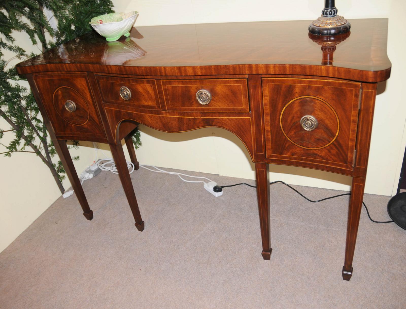 edwardian mahogany sideboard server buffet furniture ebay. Black Bedroom Furniture Sets. Home Design Ideas