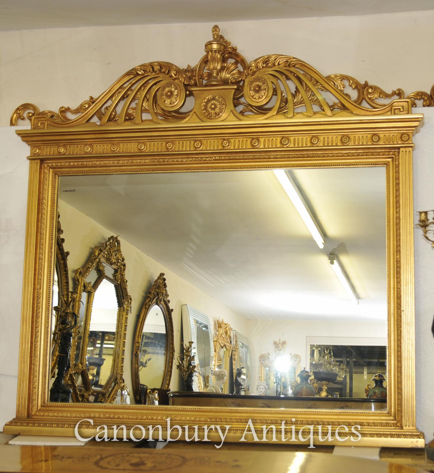 english adams gilt mantle mirror glass mirrors ebay. Black Bedroom Furniture Sets. Home Design Ideas