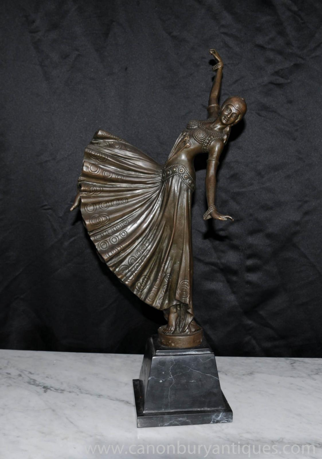 french art deco chiparus bronze dancing girl figurine statue ebay. Black Bedroom Furniture Sets. Home Design Ideas