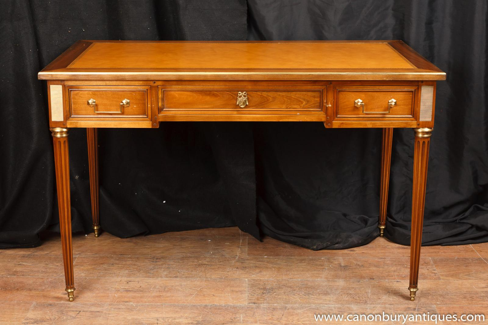 french empire bureau plat writing table desk. Black Bedroom Furniture Sets. Home Design Ideas