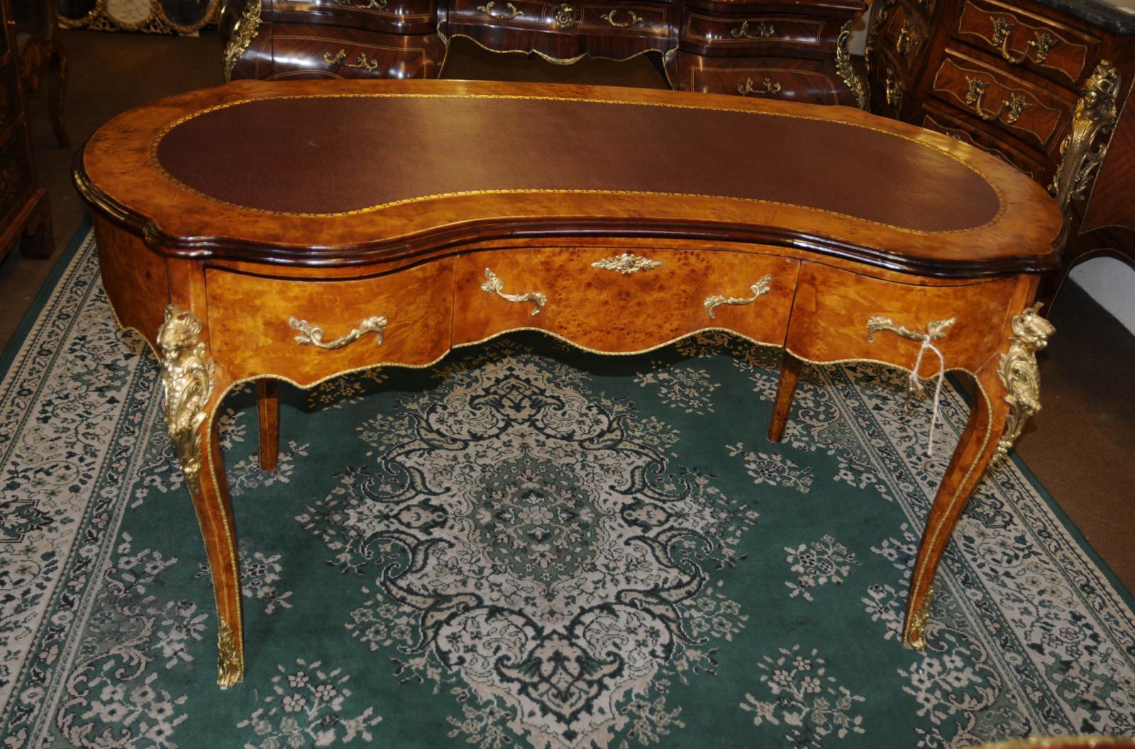 French empire kidney bean desk writing table bureau plat for Bureau table