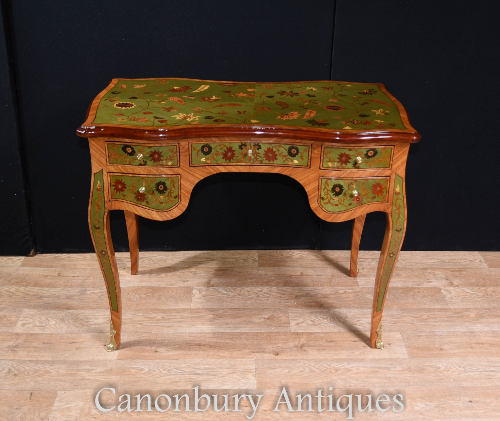 french empire bureau plat writing table desk with marquetry inlay ebay. Black Bedroom Furniture Sets. Home Design Ideas