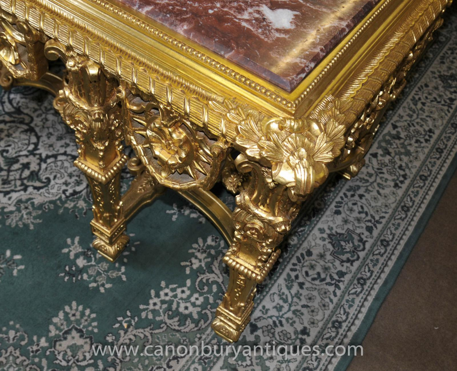 French louis xv gilt console table tables baroque hall ebay - Table baroque conforama ...