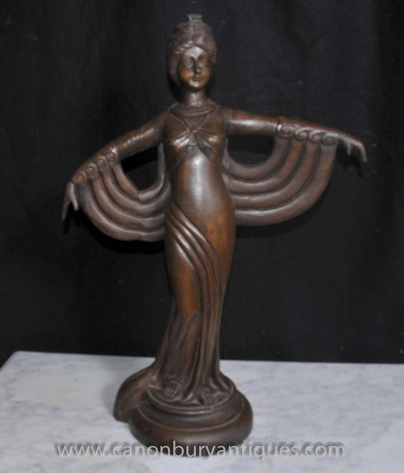 hand carved french art deco figurine statue ebay. Black Bedroom Furniture Sets. Home Design Ideas