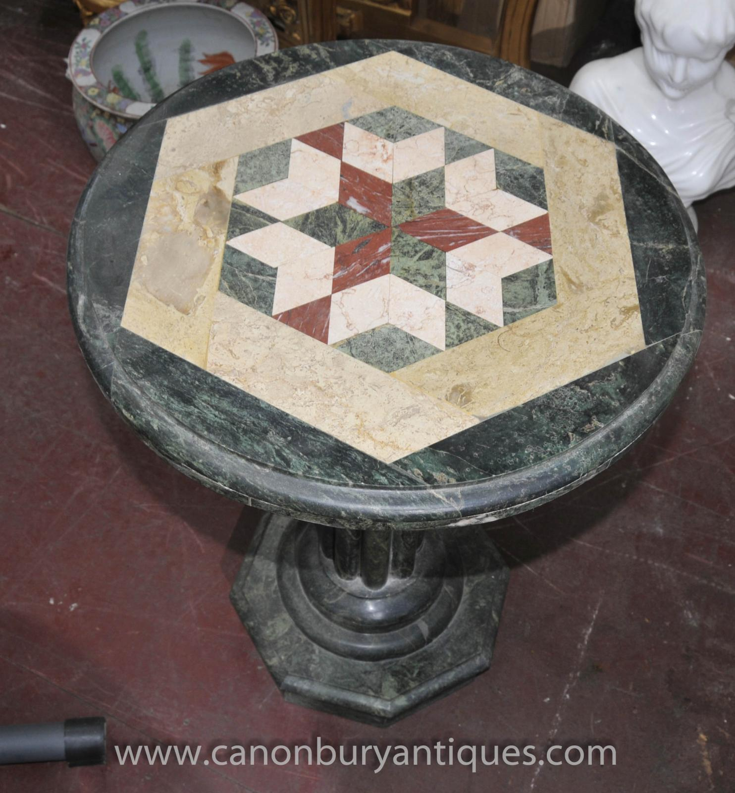 Marble Coffee Table Ebay Uk: Italian Tuscan Marble Round Side Table Inlay Cocktail