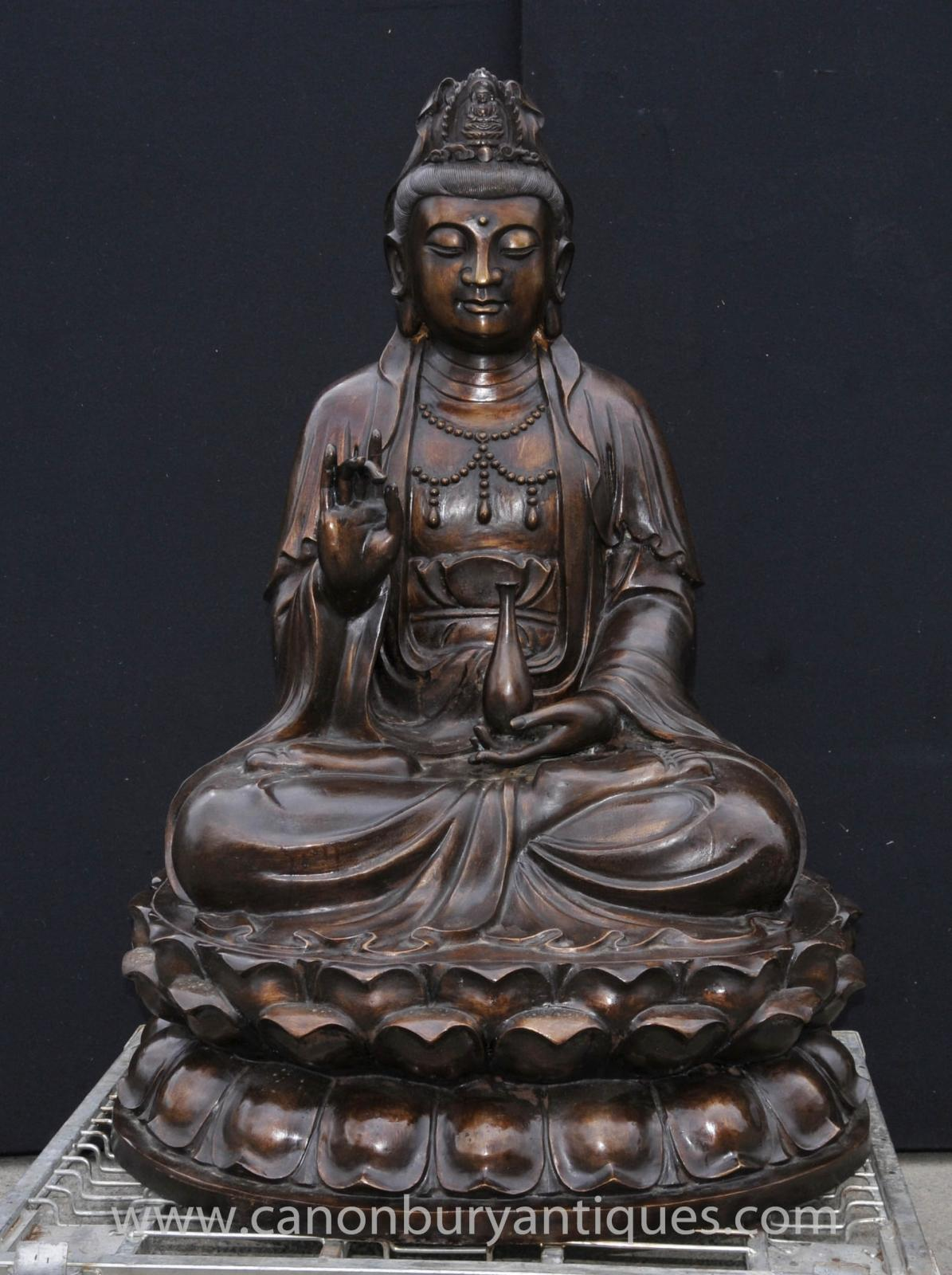 large bronze burmese buddha statue lotus figurine buddhist buddhism ebay. Black Bedroom Furniture Sets. Home Design Ideas