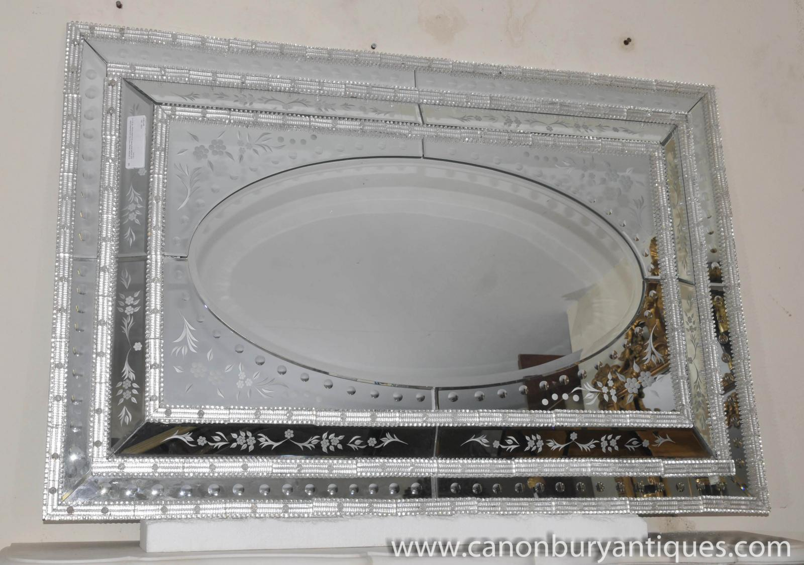 ... of Large Italian Venetian Glass Mantle Mirror Glass Venice Mirror