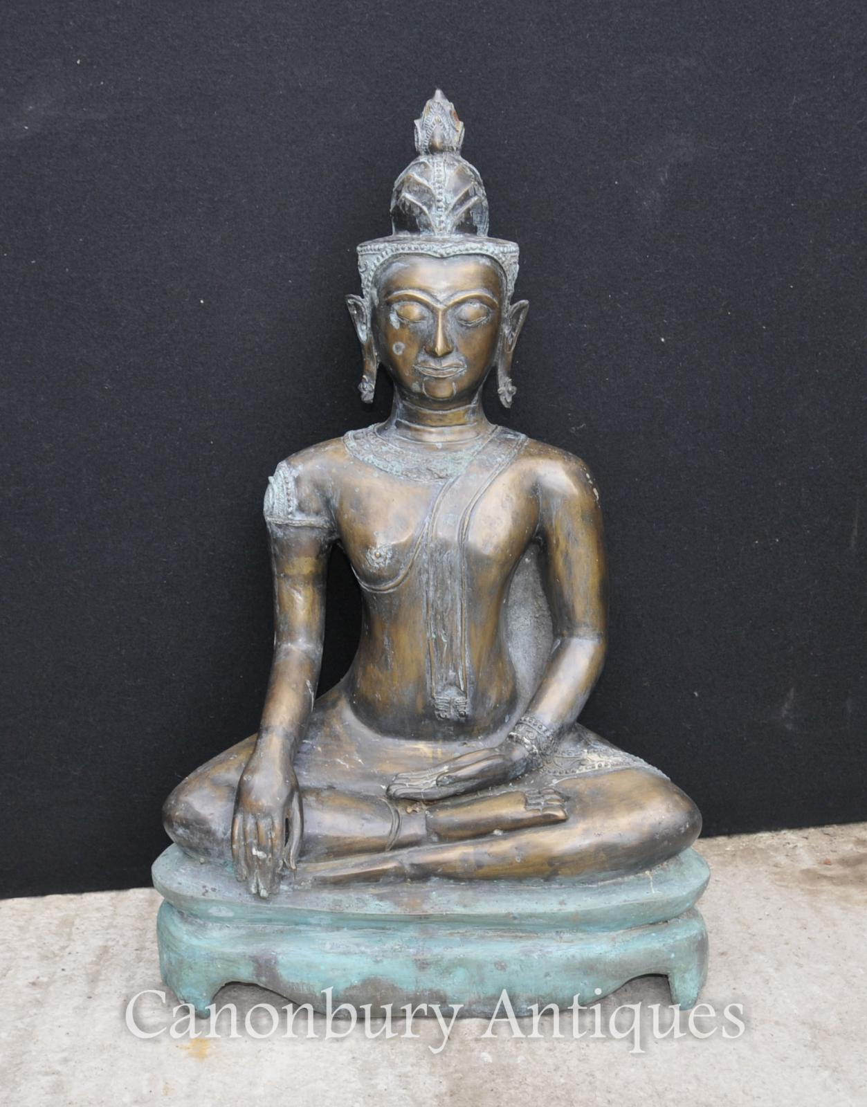 large bronze nepalese buddha statue buddhism buddhist art nepal ebay. Black Bedroom Furniture Sets. Home Design Ideas